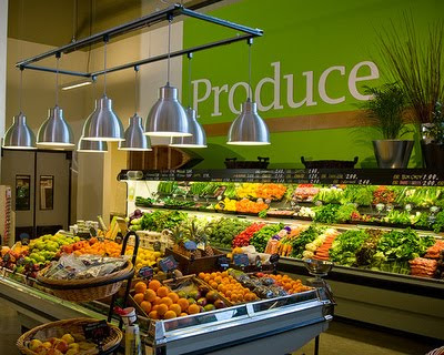 Supermarket produce department