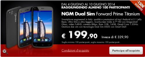 Offerta su smartphone dual sim NGM al miglior prezzo