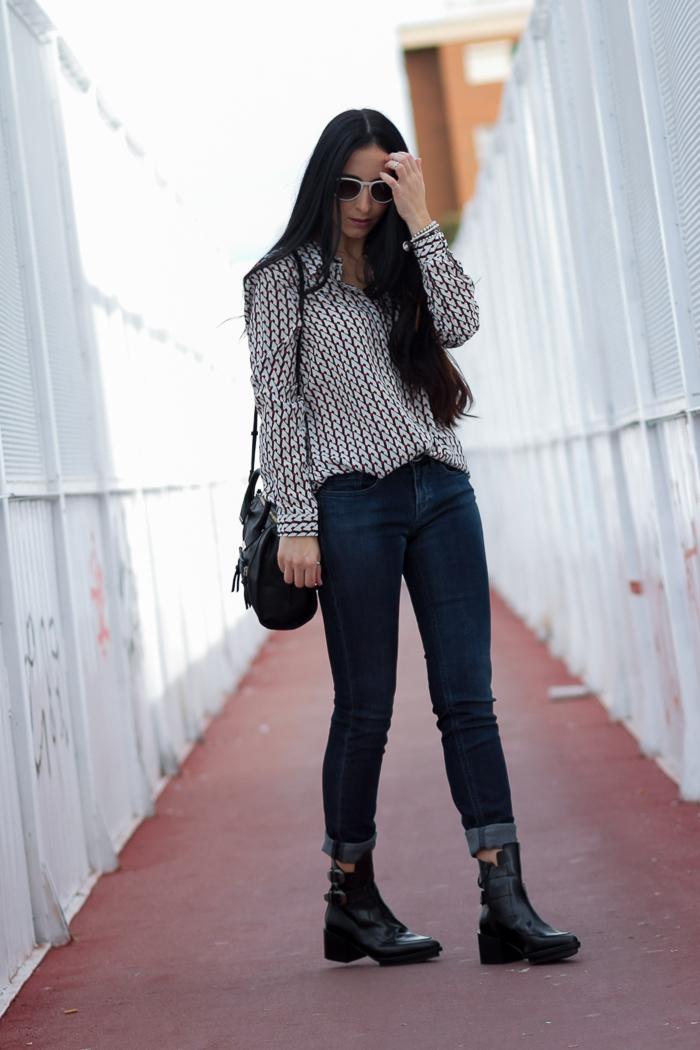 Look cómodo camisa y pitillos jeans azul tinta Meltin' Pot blogger moda tendencias valenciana