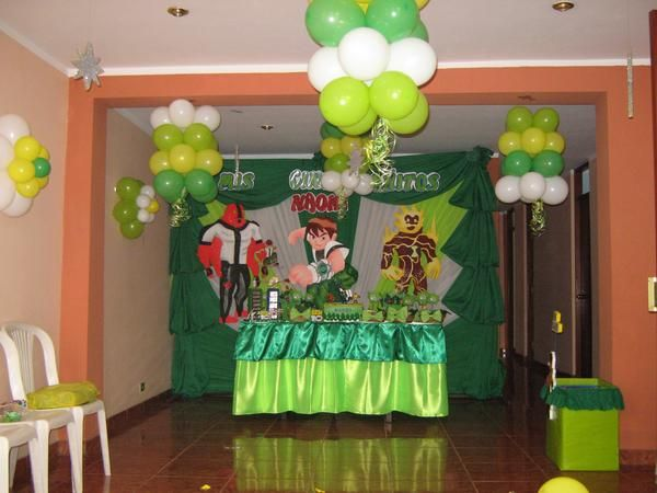 Decoración De Ben 10 Para Fiestas Infantiles Imagui Pictures