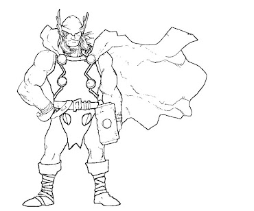 #8 Thor Coloring Page