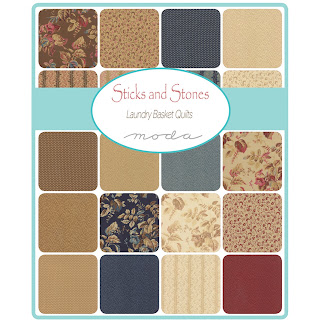 Moda STICKS & STONES Fabric by Laundry Basket Quilts for Moda Fabrics