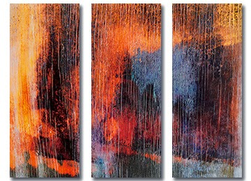 orange, red, yellow, black, grey, white, wall art, abstract, canvas print