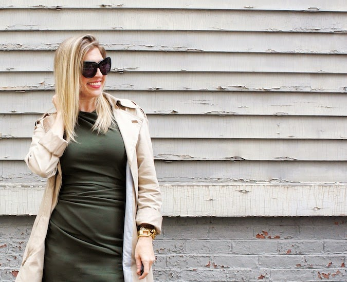 green sheath dress, olive sheath dress