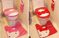 jogo de banheiro feito de tecido