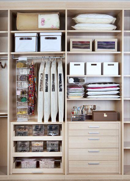 Tudo no lugar planeje seu arm rio - Organizador armarios ...