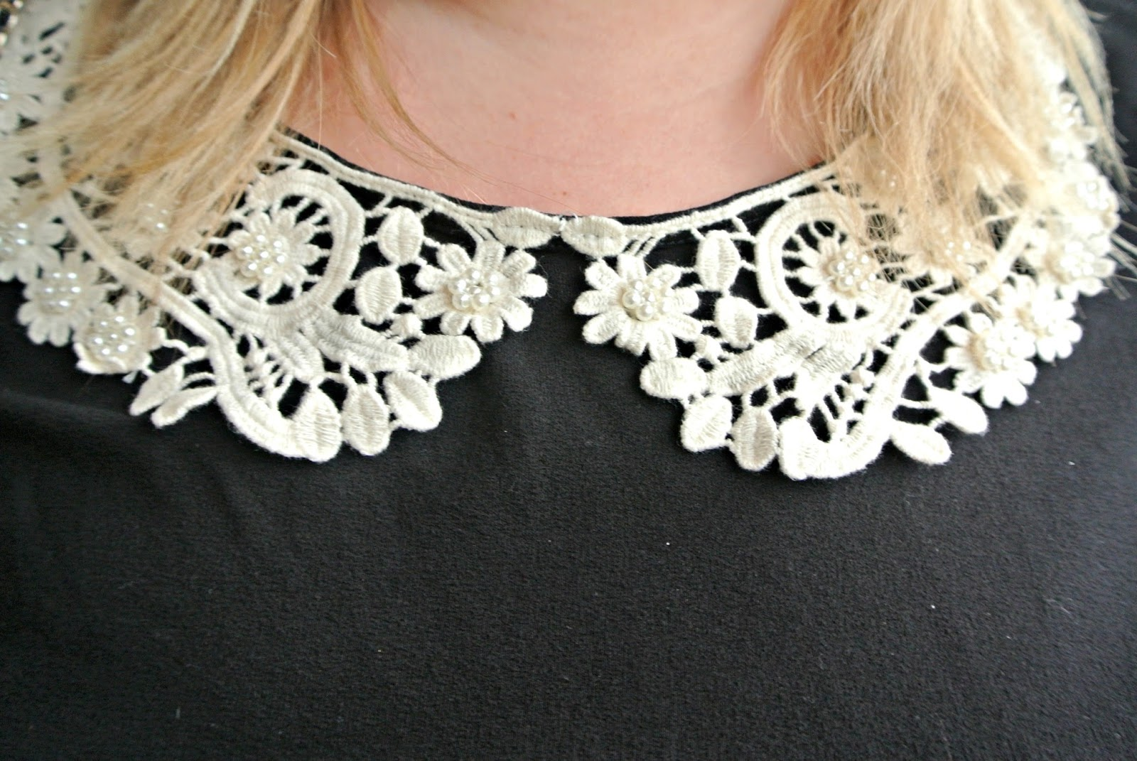 Scarlett and Jo Crochet Collar Fit and Flare Dress WhatLauraLoves Brand Ambassador
