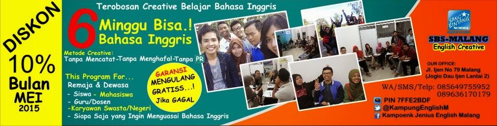 Tempat Kursus Bahasa Inggris Cepat di Malang | SBS Malang