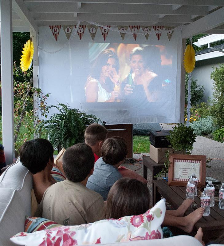 Backyard Movie Night Party : Karas Party Ideas Outdoor Movie Birthday Party  Karas Party Ideas