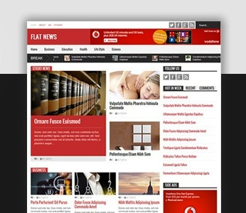 Download Flat NewsResponsive Magazine Blogger Template.