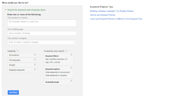 The New Google Keyword Planning Tool