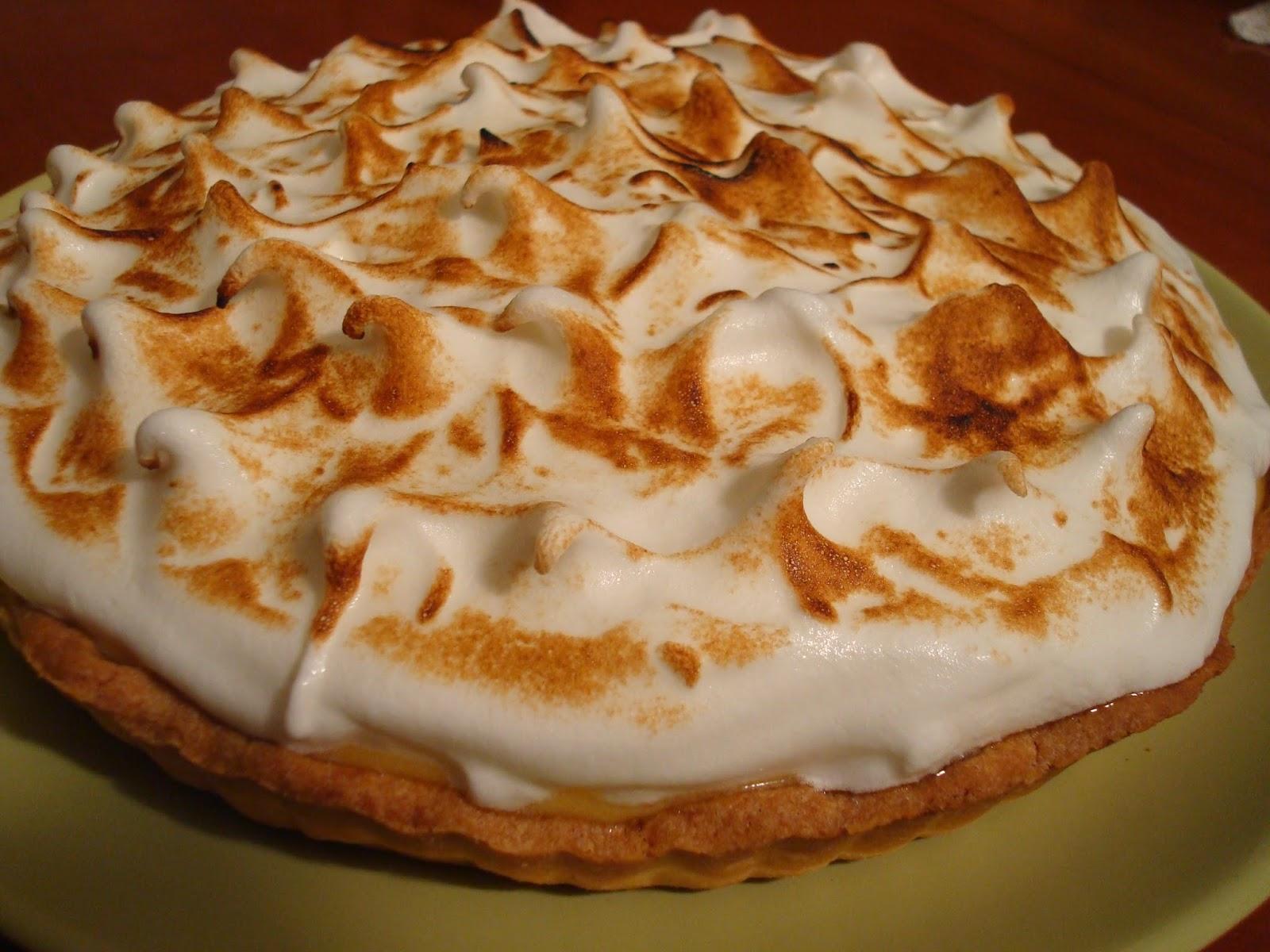 tarta de limón y merengue italiano