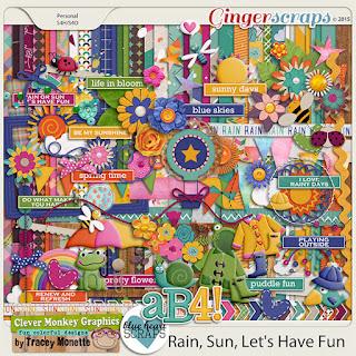 Rain, Sun, Let's Have Fun by Clever Monkey Graphics & Blue Heart Scraps