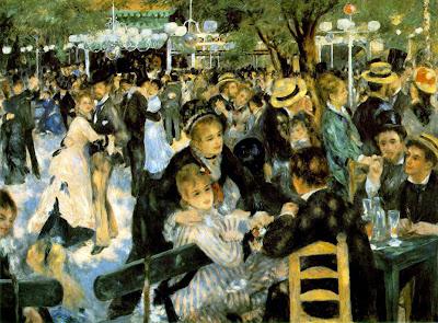 """Famous Painting """"Le Moulin De La Galette"""" by Pierre Auguste Renoir, 1876"""