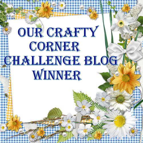 WINNER - Our Crafty Corner Challenge 8