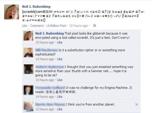 criptare messaggi facebook