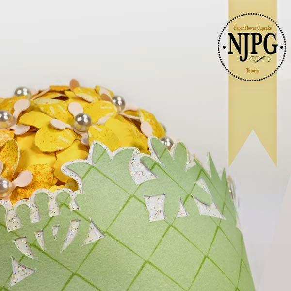 Paper Flower Centerpiece; Not Just Paper and Glue; Digi Playground