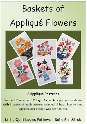 Baskets of Flowers Applique Quilt Patterns By The Quilt Ladies