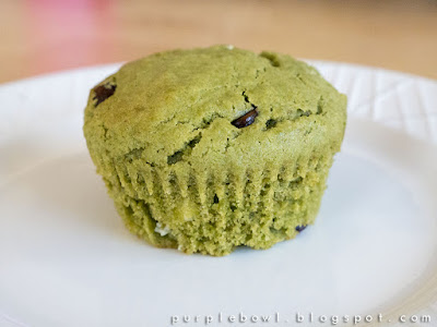 Chocolate chips green tea cupcake recipe