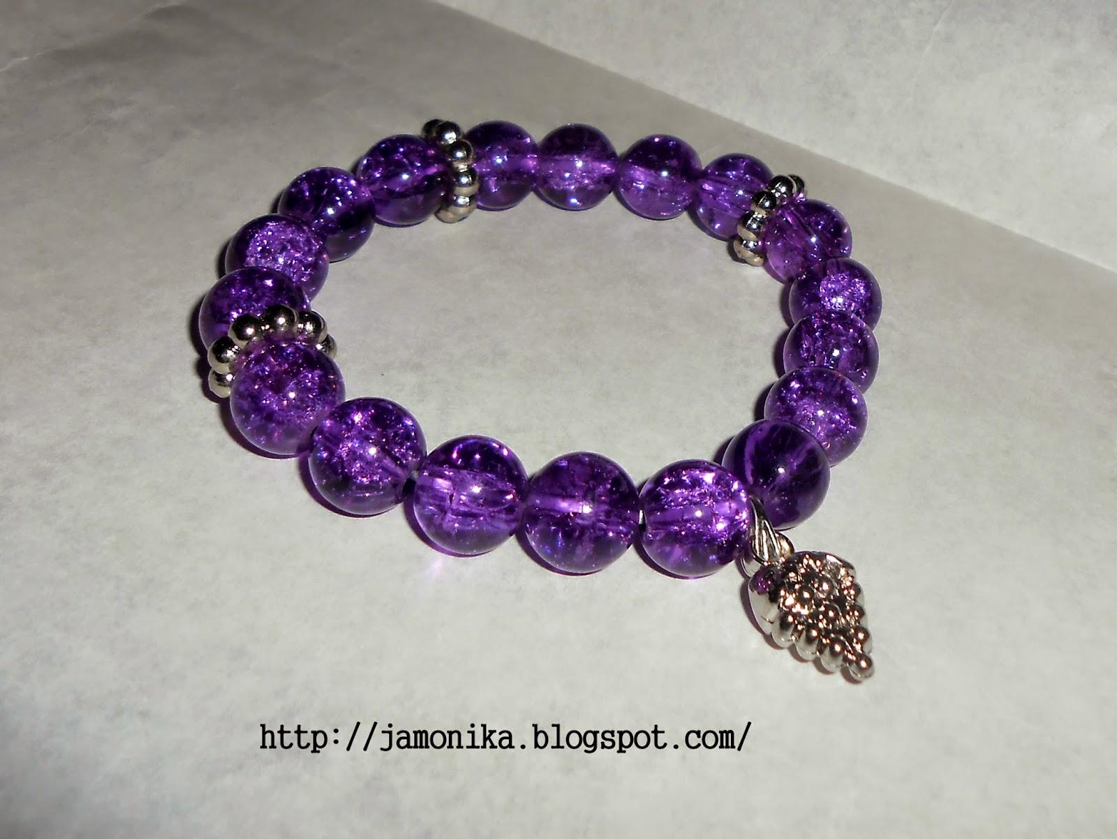 Fioletowa bransoletka z jeżyną