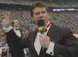 WWF / WWE WRESTLEMANIA 3 - Vince McMahon welcomes everyone to the show