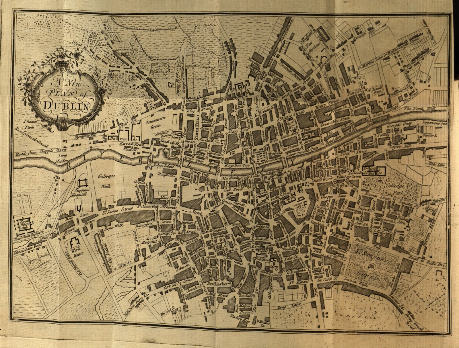 Fadó Fadó Irish Memory A New Plan Of Dublin - Old maps of dublin