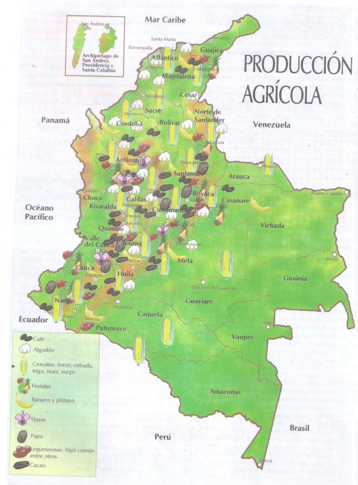 mapa agrícola de colombia