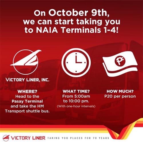 Victory Liner Inc. Shuttle Bus to NAIA
