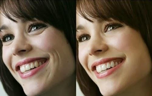 Rachel McAdams antes y despues photoshop