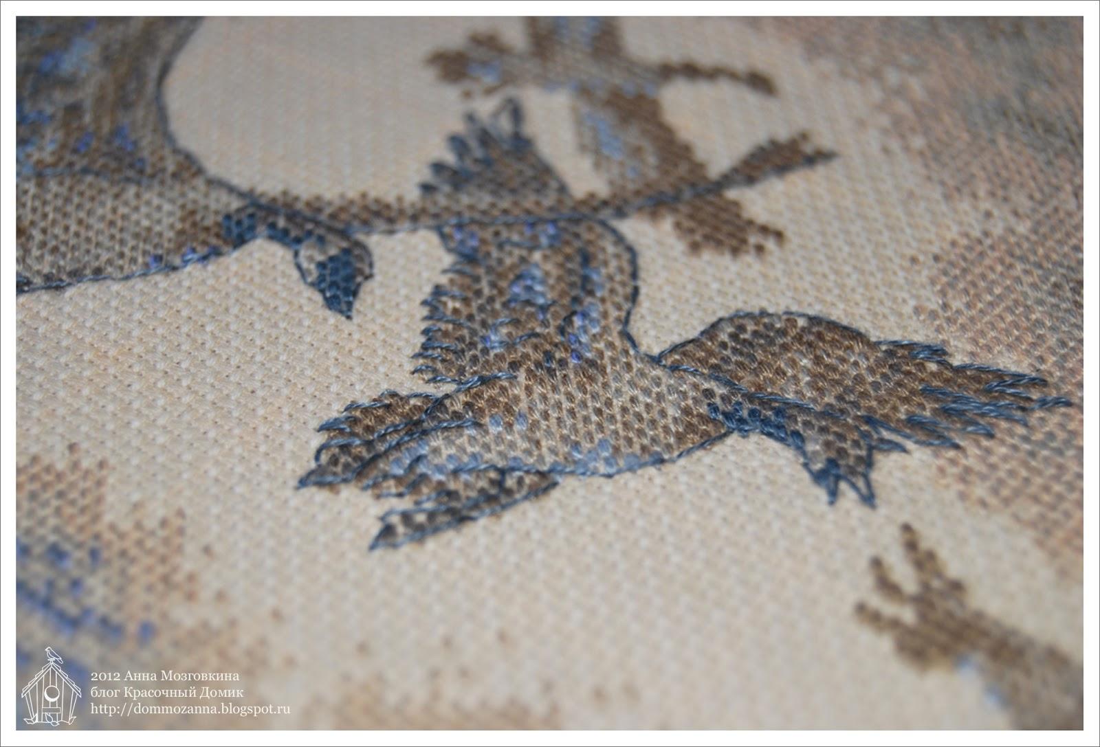Dimensions птицы вышивка крестом