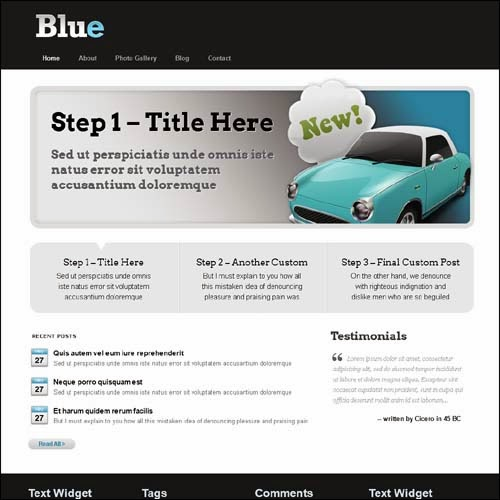 Blue – Professional WordPress Theme