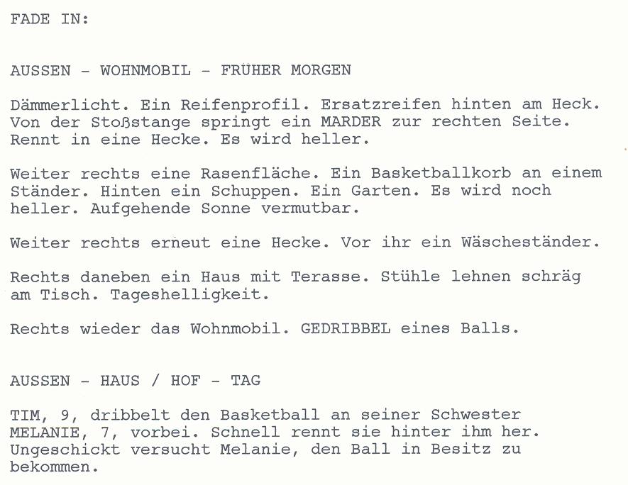 Wissenswerte Informationen für Schriftsteller: Drehbuch Szene – Das ...