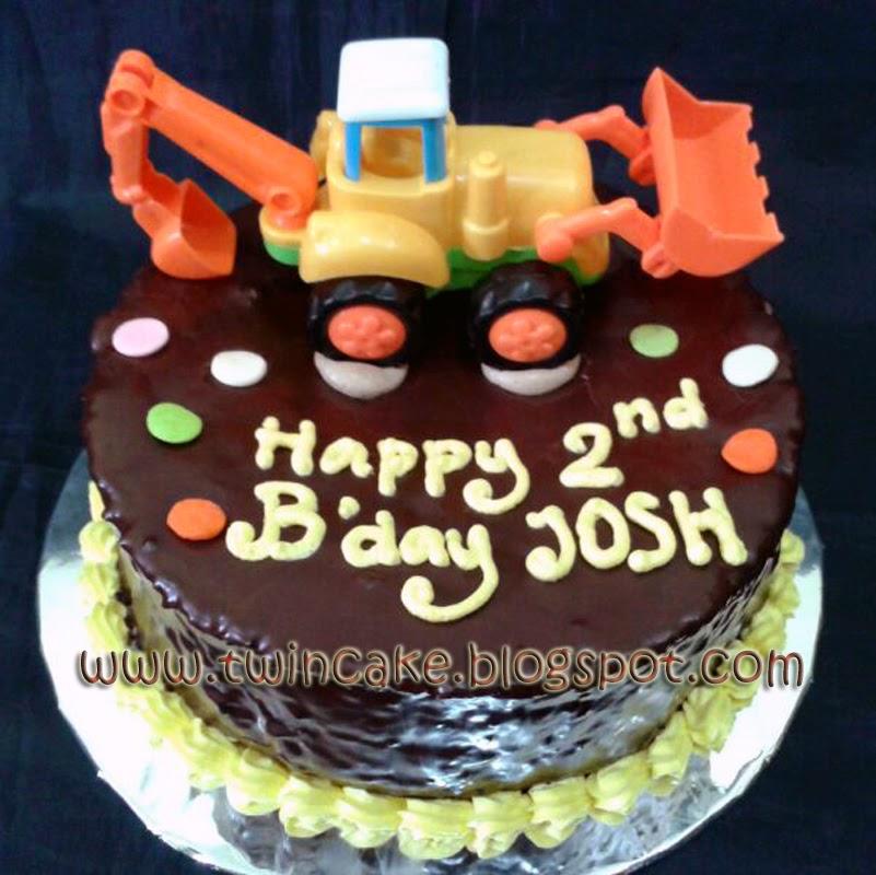 Twincake Excavator Birthday Cake Josh