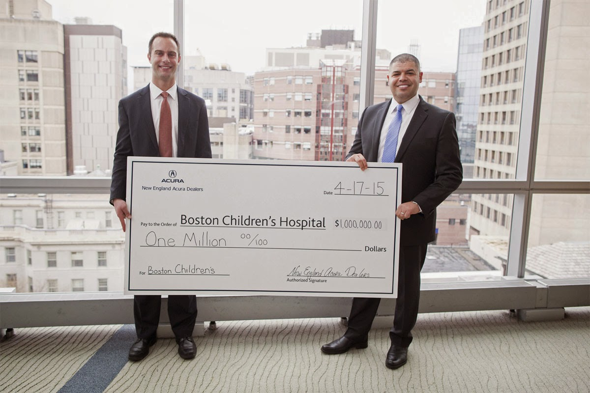Boston Children's Hospital Celebrates New England Acura Dealers Partnership