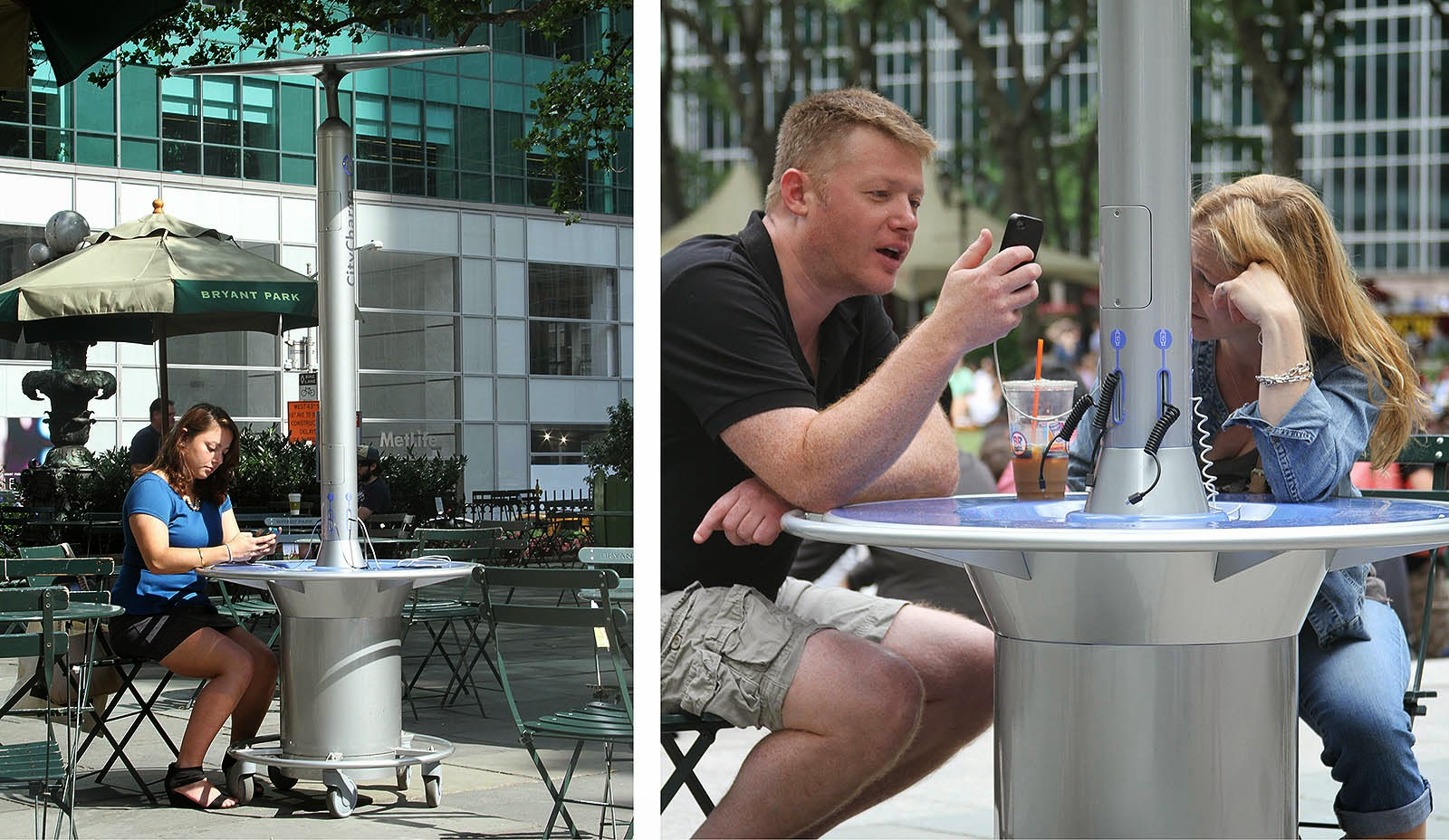 Bryant Park Blog Solar Powered Charging Stations Land In