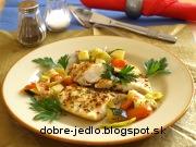 Ryba na rasci s chrumkavou zeleninou - recept