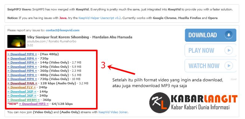 Download video dari youtube