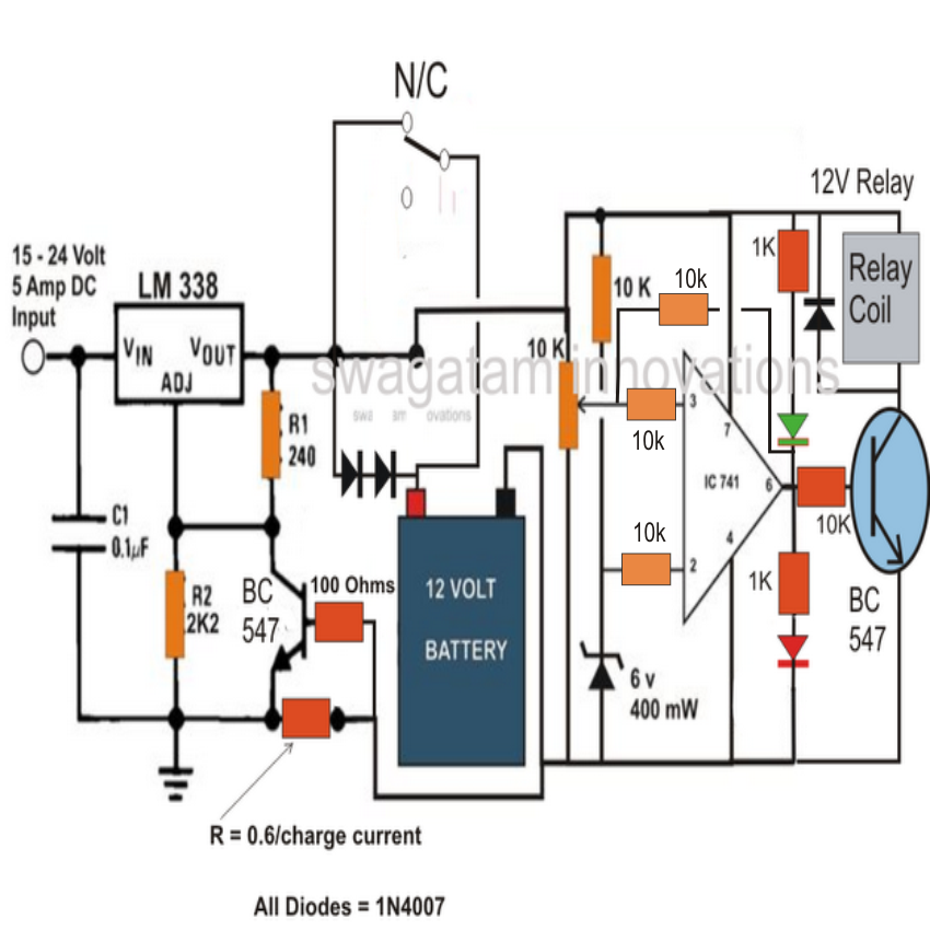 12v smart battery charger circuit electronic circuit projects
