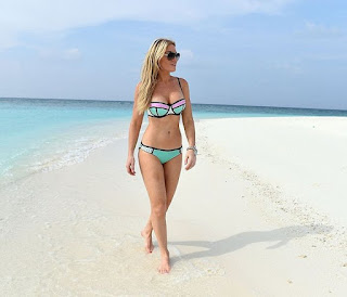 Currently on holiday at Maldives, Hofit Golan spent her day on the beach with a female friend on Friday, January 29, 2016.