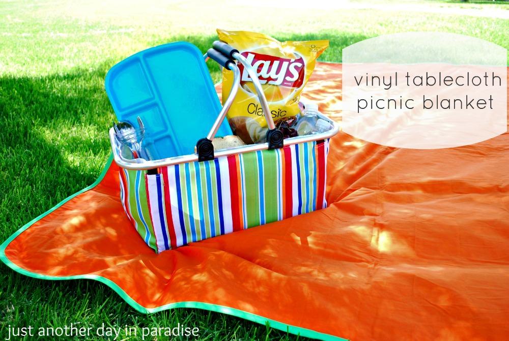 Vinyl Tablecloth Picnic Blanket Tutorial