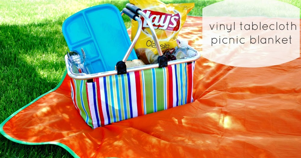 Larissa another day vinyl tablecloth picnic blanket tutorial for Au maison picnic blanket