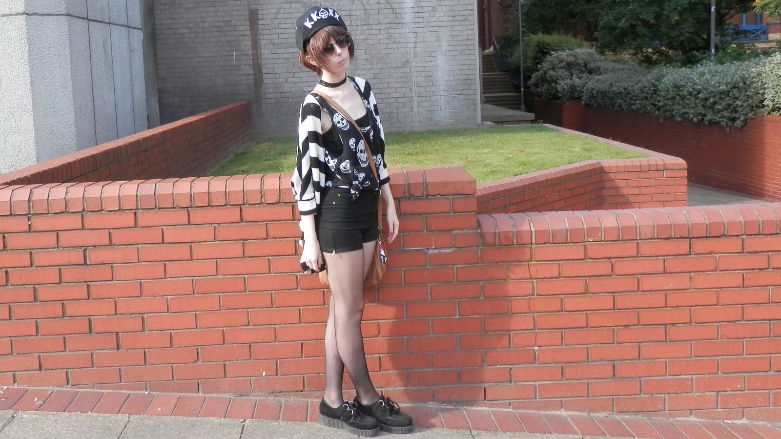 Skulls and Creepers outfit, out to wear creepers