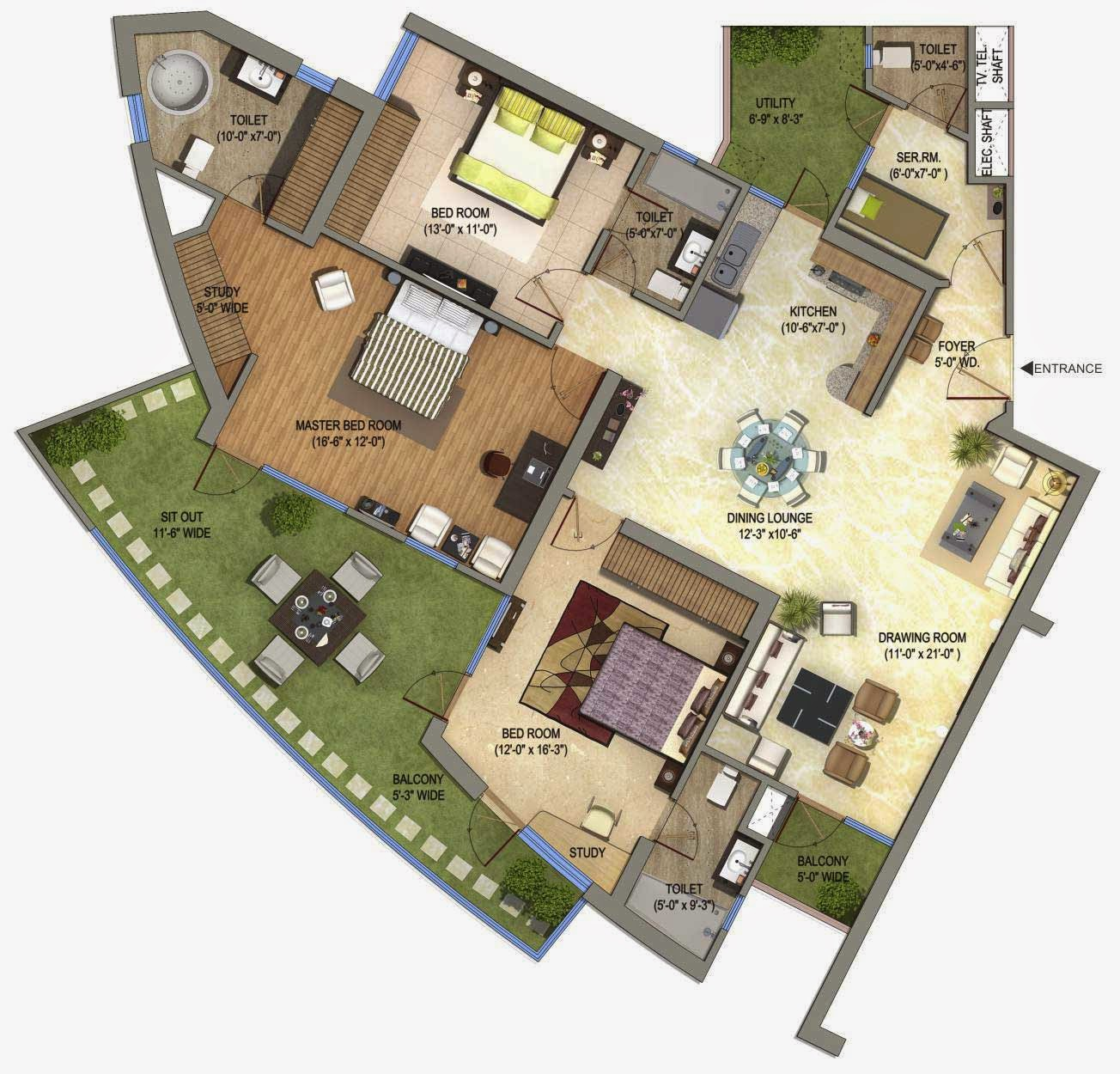 Supertech ORB: Floor Plan