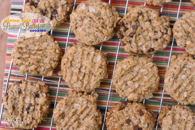 Gluten-Free Chia Seed Peanut Butter Oat Cookies