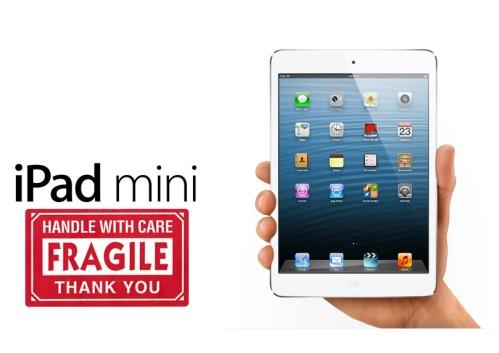 iPad mini è il device mobile popolare più fragile che si rompe più facilmente agli urti e ha scarsa tolleranza all'acqua