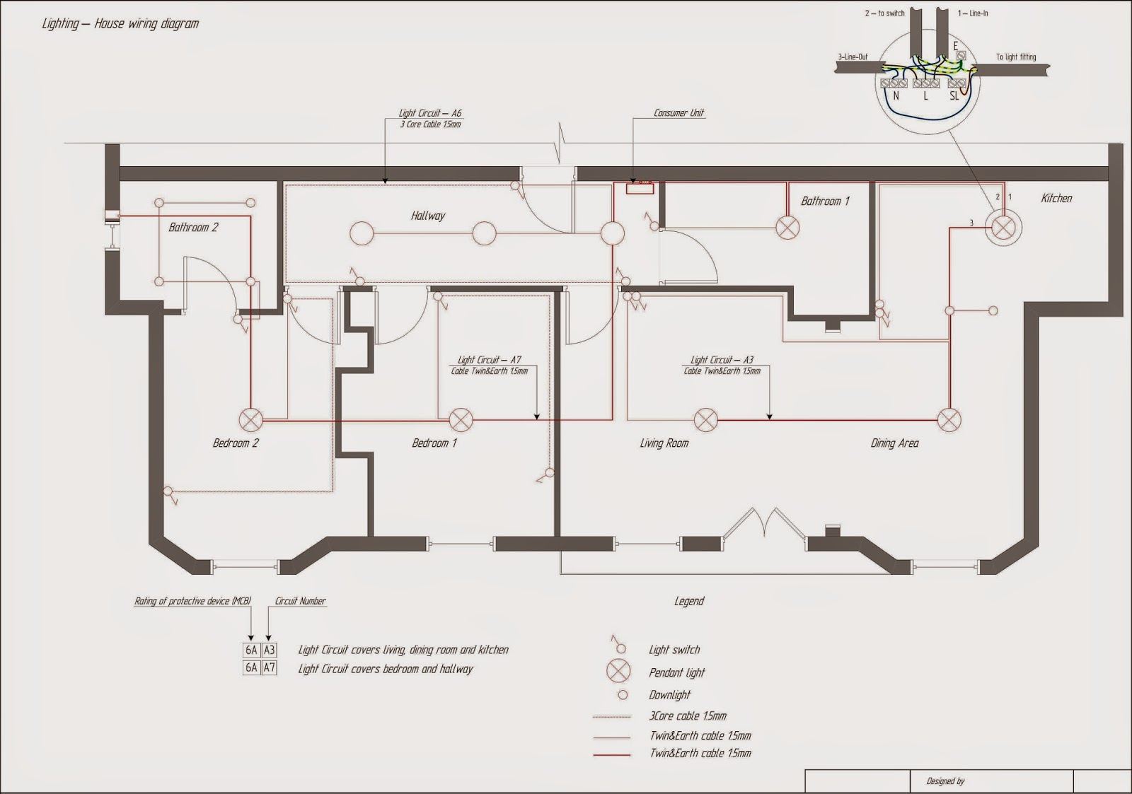 Domestic Electrical Diagram Symbols. Autocad How To Use House ...