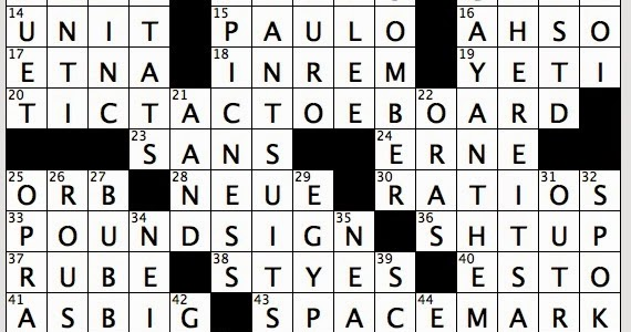 Rex Parker Does The Nyt Crossword Puzzle Media Icon With Eponymous