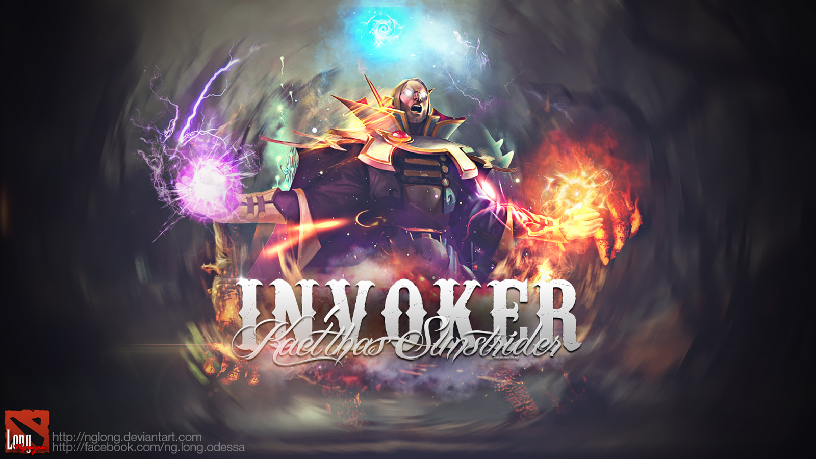 Invoker Dota 2 1600x900 2h Wallpaper HD