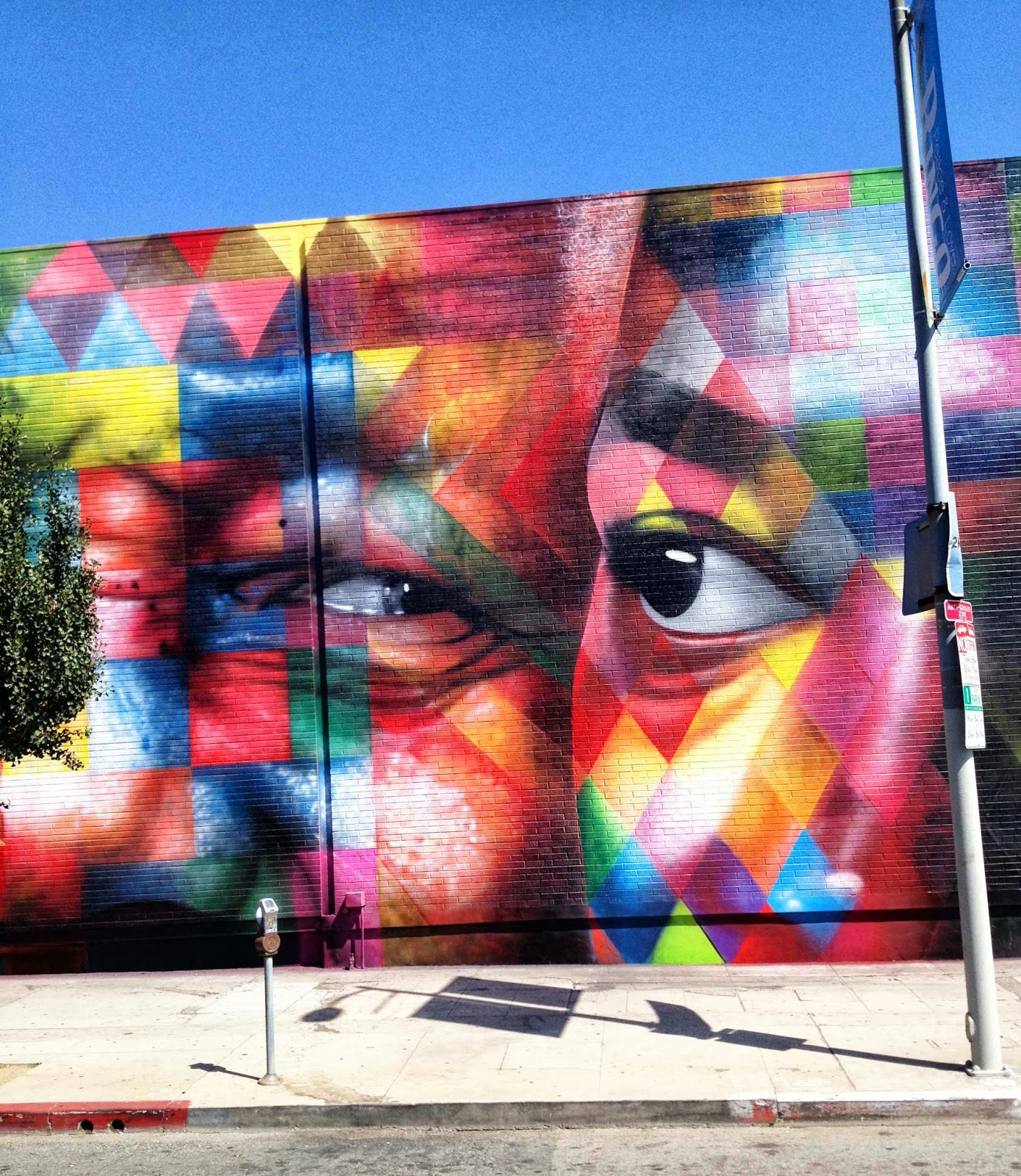 Kobra new mural on n highland ave in los angeles usa for Mural eduardo kobra