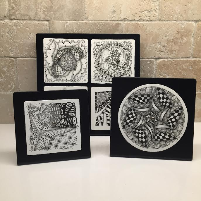 Tickled To Tangle Debut Of My Frames For Zentangle Tiles